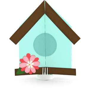 double gatefold card birdhouse