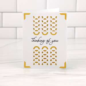 a2 insert card tuck fold thinking of you
