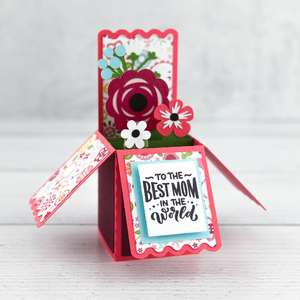 a2 box card mother's day flower