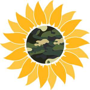 camo sunflower