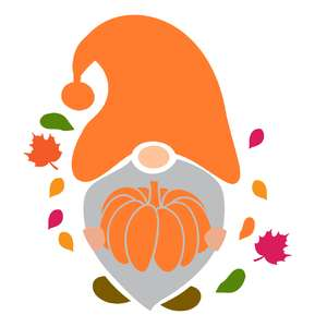 gnome pumpkin design