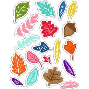 ml fall leaves and fronds stickers