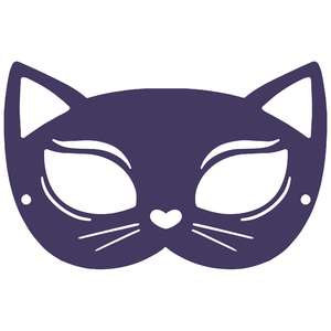 fancy cat costume mask