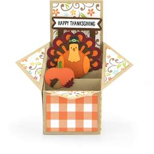 tiered box card turkey