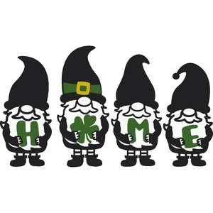 st patrick's day gnomes home