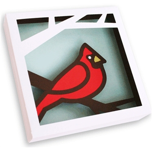 3d wall art - cardinal (1 of 2)
