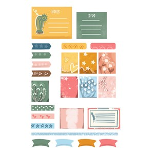 boho planner stickers