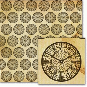 big ben clock face pattern