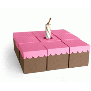 3d square birthday cake favor boxes