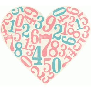 heart with numbers