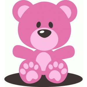 cute pink baby girl teddy bear