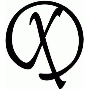 round flourish monogram - x