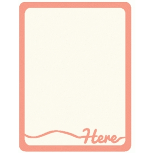 here journaling card