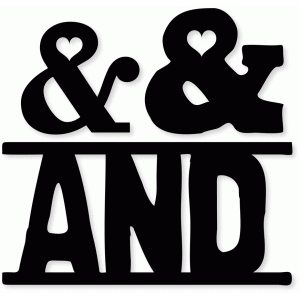 heart ampersand