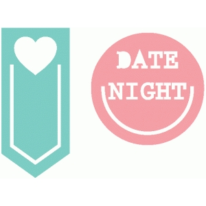 set of 2 date night paperclips