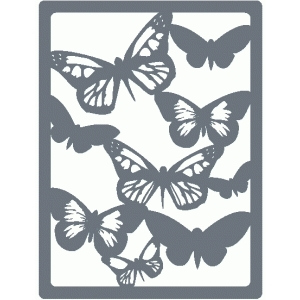 butterfly silhouette journaling card