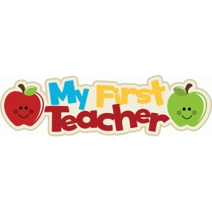 my first teacher title with apples