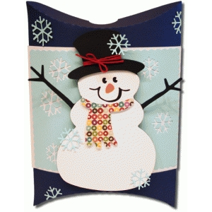 3d snowman large pillow box