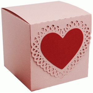 box valentine heart front latch