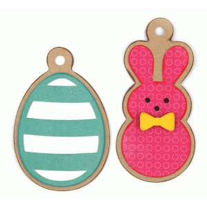 2 easter egg and bunny tags