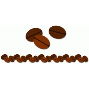 coffee beans with border