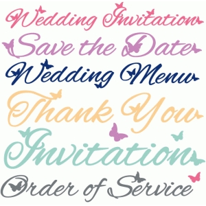 butterfly wedding words