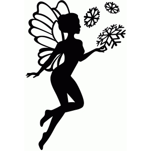 Silhouette design store view design 68561 snow fairy for Fairy cut out template