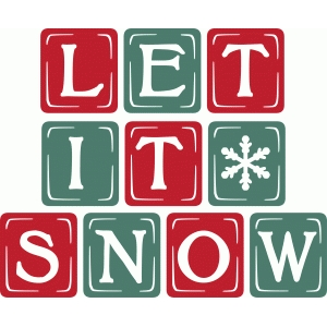 vintage block letters – let it snow