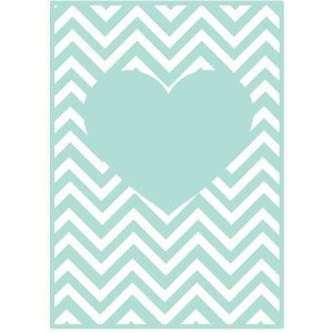 heart chevron card mat / background