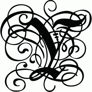 calligraphy flourish monogram y