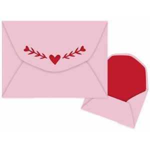heart and vine envelope a7