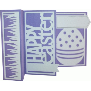 accordion fold card - easter egg
