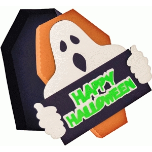 ghost happy halloween box