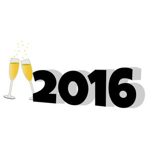 2016 with champagne