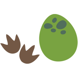 dino egg & footprint