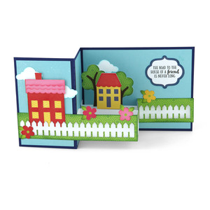 pop up box card house