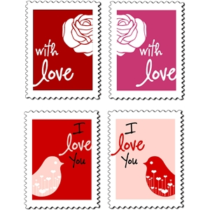 valentine - love stamps