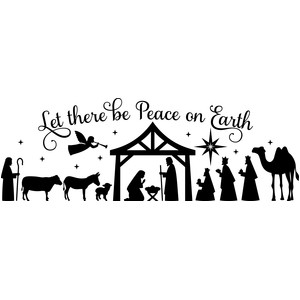 full nativity: let there be peace on earth