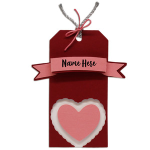 ruffled heart gift tag
