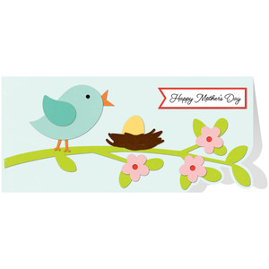 bird branch mother's day card
