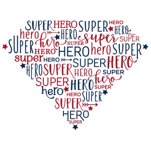 word collage - superhero