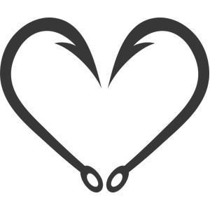 heart fish hook