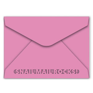 a7 envelope with snail mail cutout