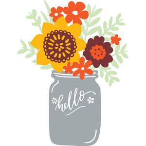 mason jar of flowers