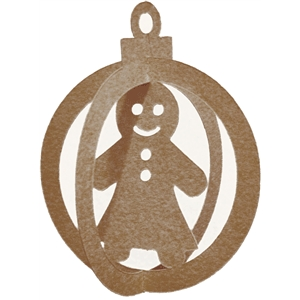 3d christmas ornament-gingerbread girl