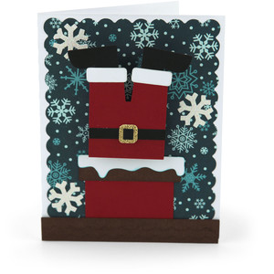 bobble head card santa chimney