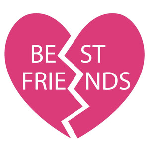 best friends heart charm