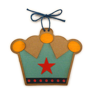crown boy ornament