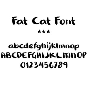 fat cat font