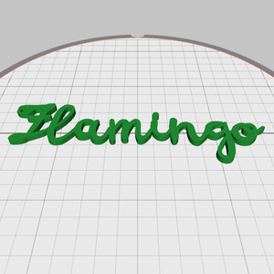 flamingo word embellishment